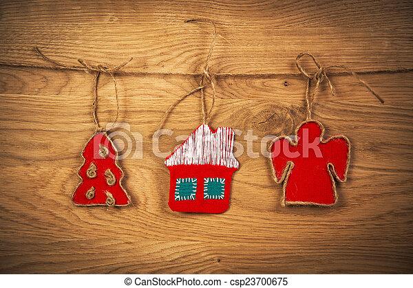 Christmas tree and angel - csp23700675