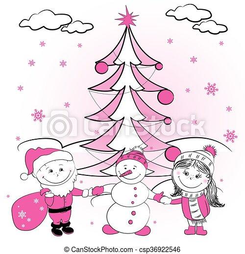 Lovers christmas tree