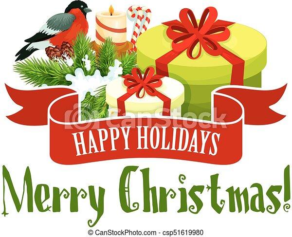Christmas Holidays Icon.Christmas Tree And Gift Icon Xmas Holiday Design