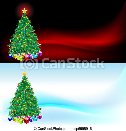 Christmas tree and gifts - csp6995915
