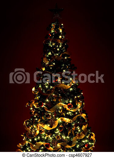 Christmas Tree and Gifts - csp4607927
