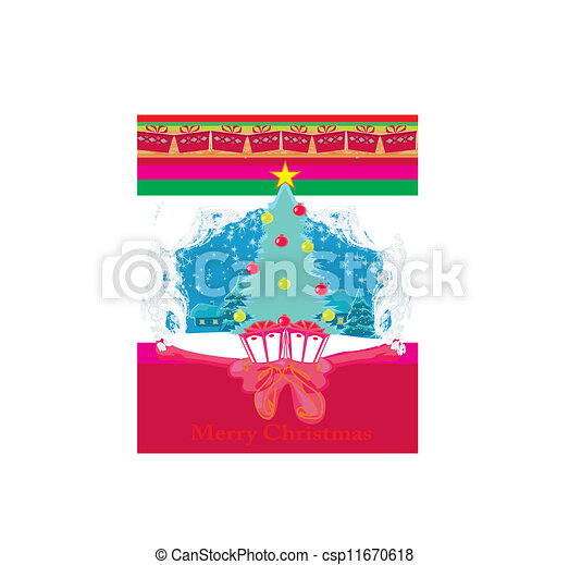Christmas tree and gifts - csp11670618