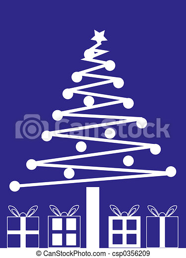 Christmas Tree and Presents - csp0356209