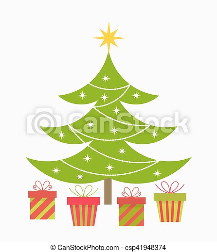 Christmas tree and presents - csp41948374