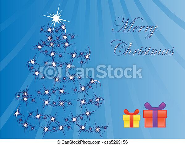 christmas tree and presents - csp5263156