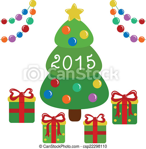 Christmas tree and presents - csp22298110