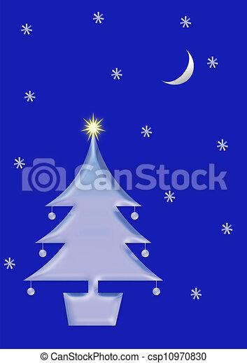 Christmas tree and snow - csp10970830
