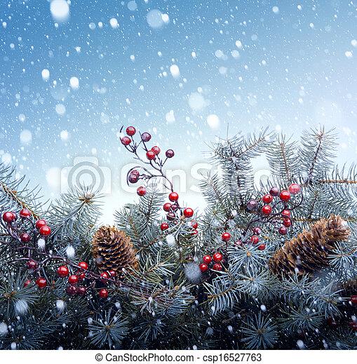 Christmas tree background - csp16527763