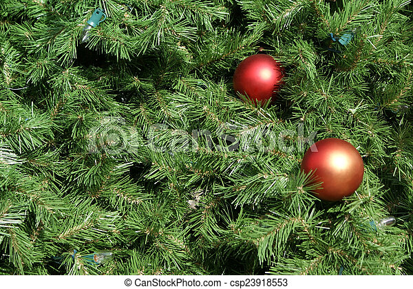 Christmas Tree Background - csp23918553