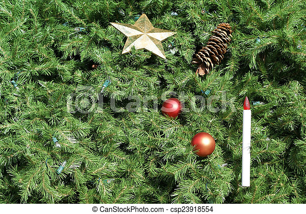 Christmas Tree Background - csp23918554