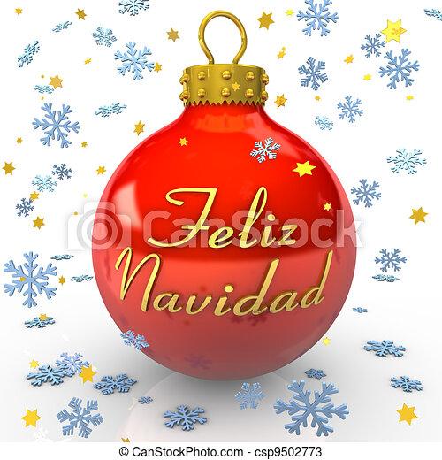 Christmas Tree Bauble - Feliz Navidad - csp9502773