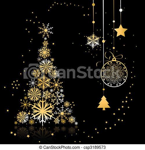 Christmas tree beautiful - csp3189573