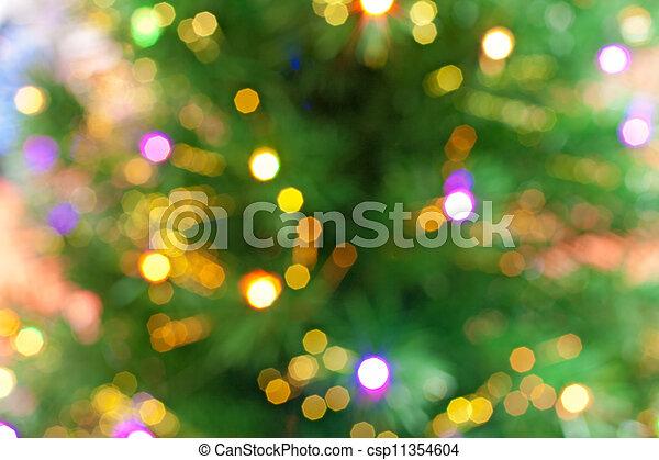 christmas tree bokeh background - csp11354604