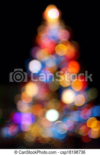 Christmas Tree Bokeh Light