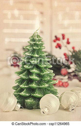 Christmas tree candle - csp11264965