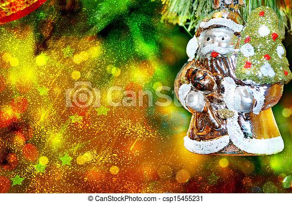 Christmas tree. Christmas toy. Santa Claus. - csp15455231
