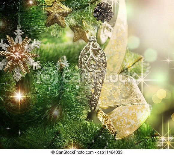 Christmas Tree Decorated - csp11464033