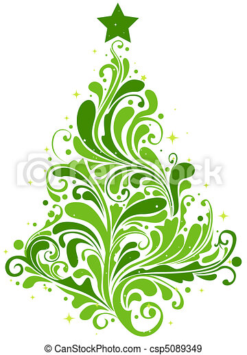 christmas tree design csp5089349