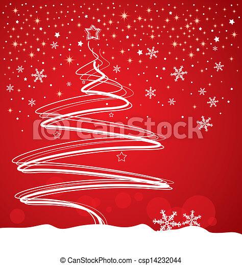 Christmas tree design - csp14232044