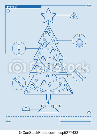 christmas tree diagram blueprint style instructions for decorating rh canstockphoto com xmas tree diagram christmas tree wellhead diagram