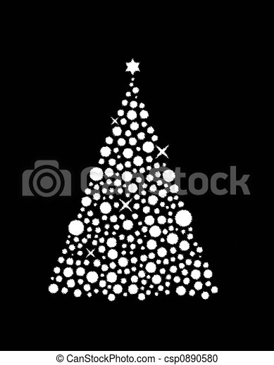 Christmas Tree Illustration.Christmas Tree