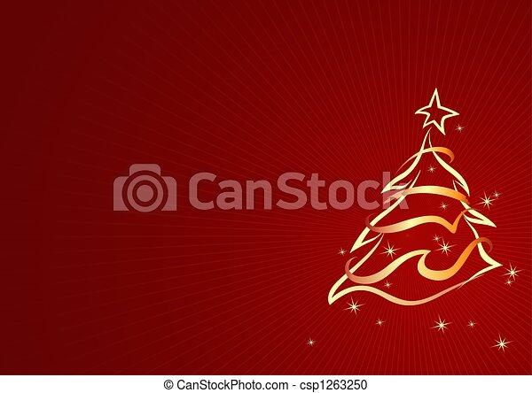Christmas tree - csp1263250