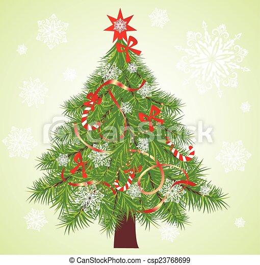 Christmas tree - csp23768699