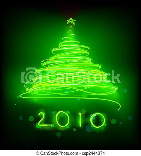 Christmas tree - csp2444374