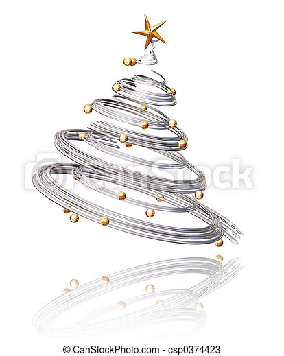 Christmas tree - csp0374423