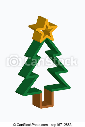 christmas tree - csp16712883