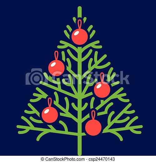 christmas tree - csp24470143