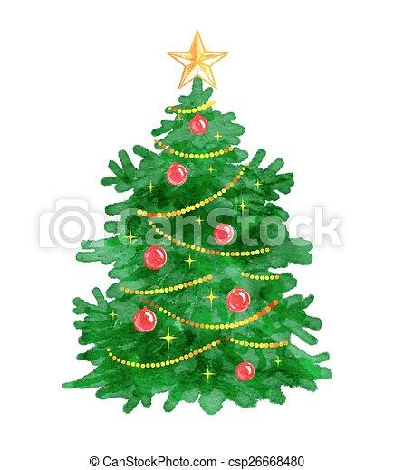 Christmas tree.  - csp26668480