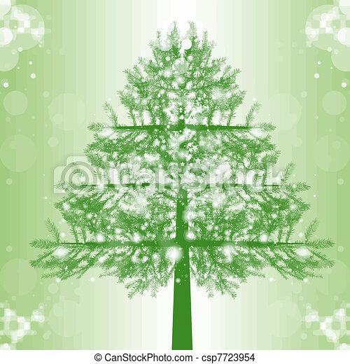 Christmas Tree - csp7723954