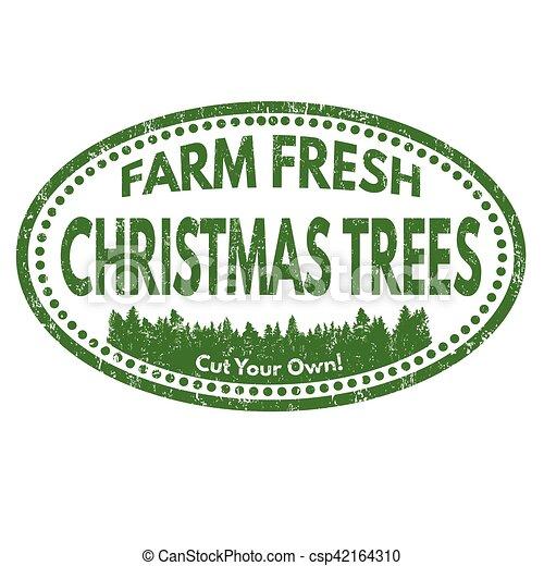 Christmas Tree Farm Sign Or Stamp Christmas Tree Farm Grunge Rubber