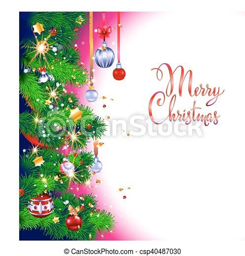 Christmas Leaflet Background.Christmas Tree Festive Background