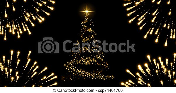 Background Black And Gold Christmas Decorations from comps.canstockphoto.com