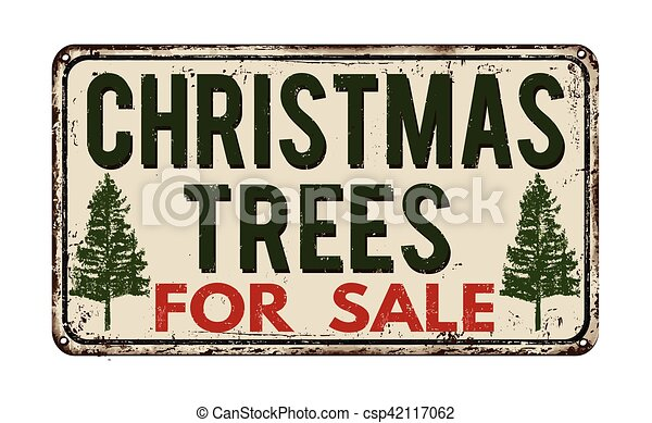 Christmas Tree For Sale Vintage Metal Sign Christmas Tree For Sale