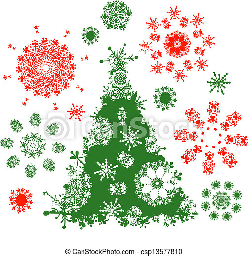 Christmas tree for your design - csp13577810