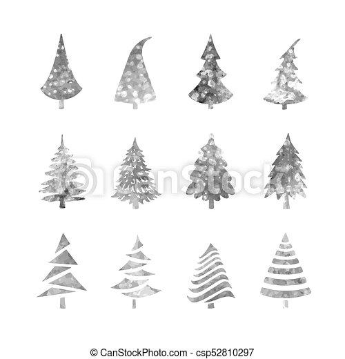 Christmas Tree Icons.Christmas Tree Icons Set