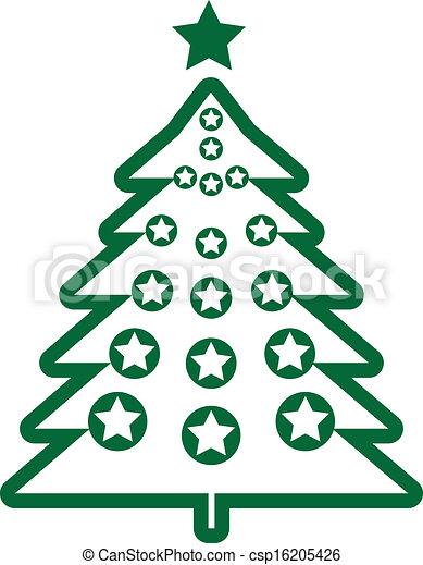 Christmas tree  - csp16205426