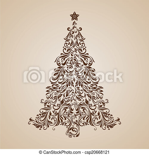 Christmas tree - csp20668121