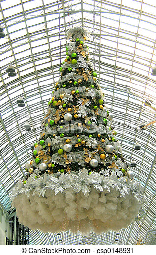 christmas tree in a mall csp0148931