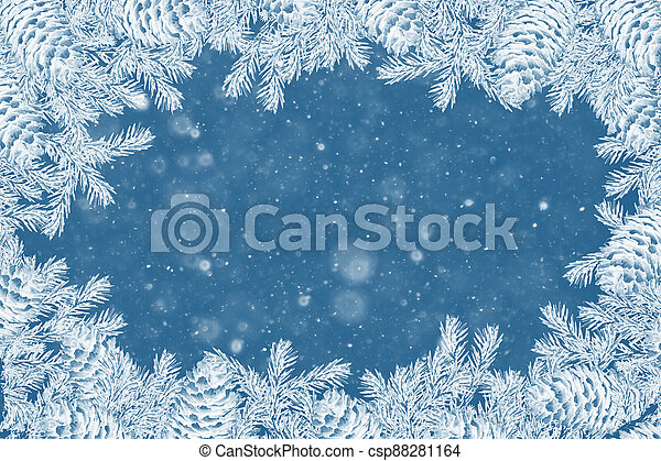Christmas tree in the snow - csp88281164
