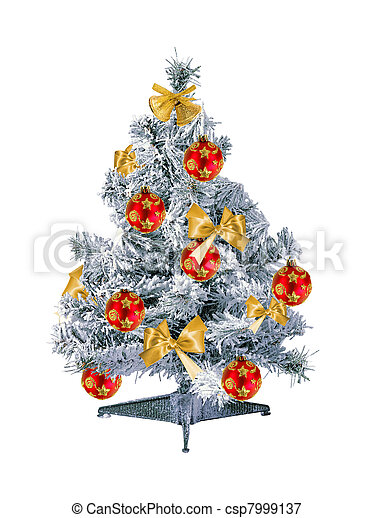 Christmas tree isolated on the white background - csp7999137