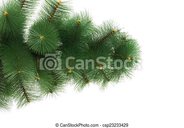 Christmas tree isolated on the white background - csp23233429