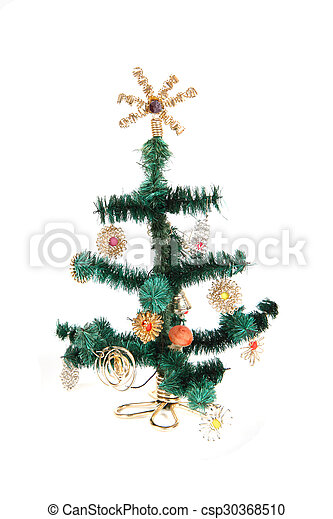 christmas tree isolated - csp30368510