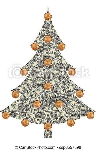Christmas Tree Bill.Christmas Tree Made From Dollars