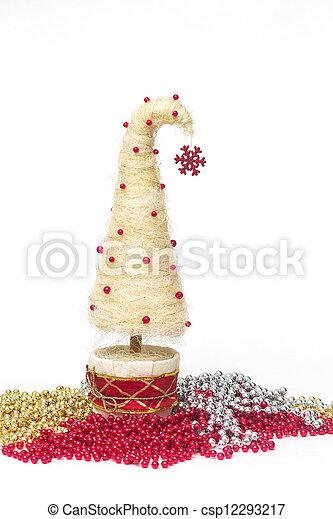 Christmas tree made of sisal - csp12293217