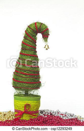 Christmas tree made of sisal - csp12293249