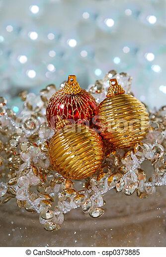 christmas tree ornaments csp0373885
